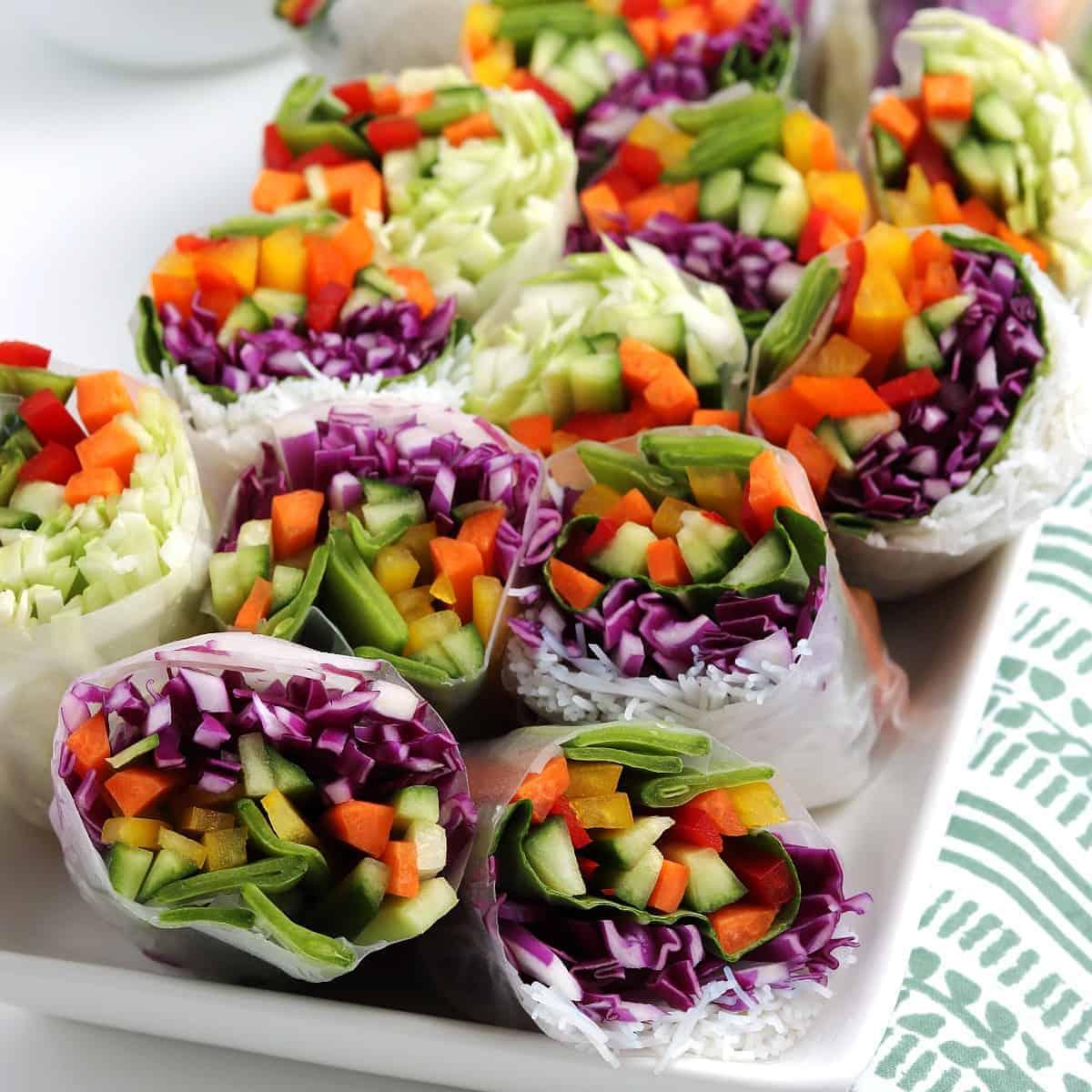 vietnamese summer rolls by vegan in the freezer