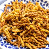 plate of air fryer pasta chips
