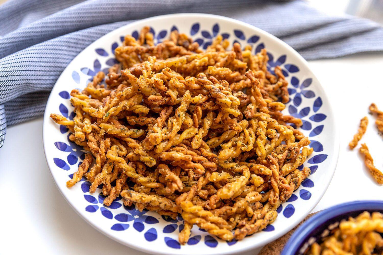 lower carb air fryer pasta chips TikTok trend