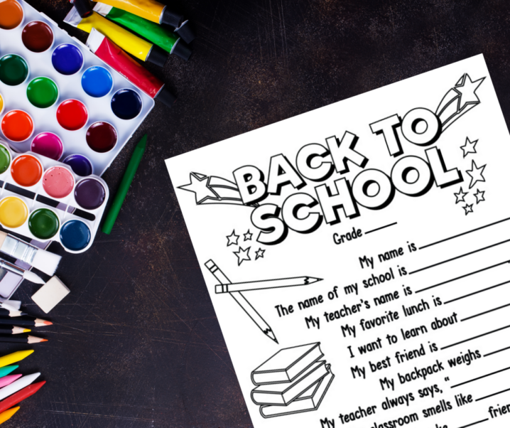 Back-to-School Questionnaire Free Printable for Kids