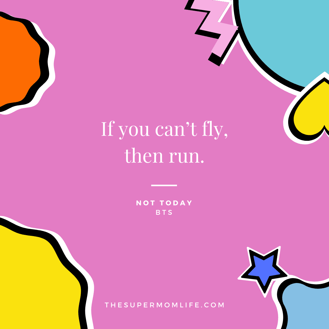 If you can't fly, then run.