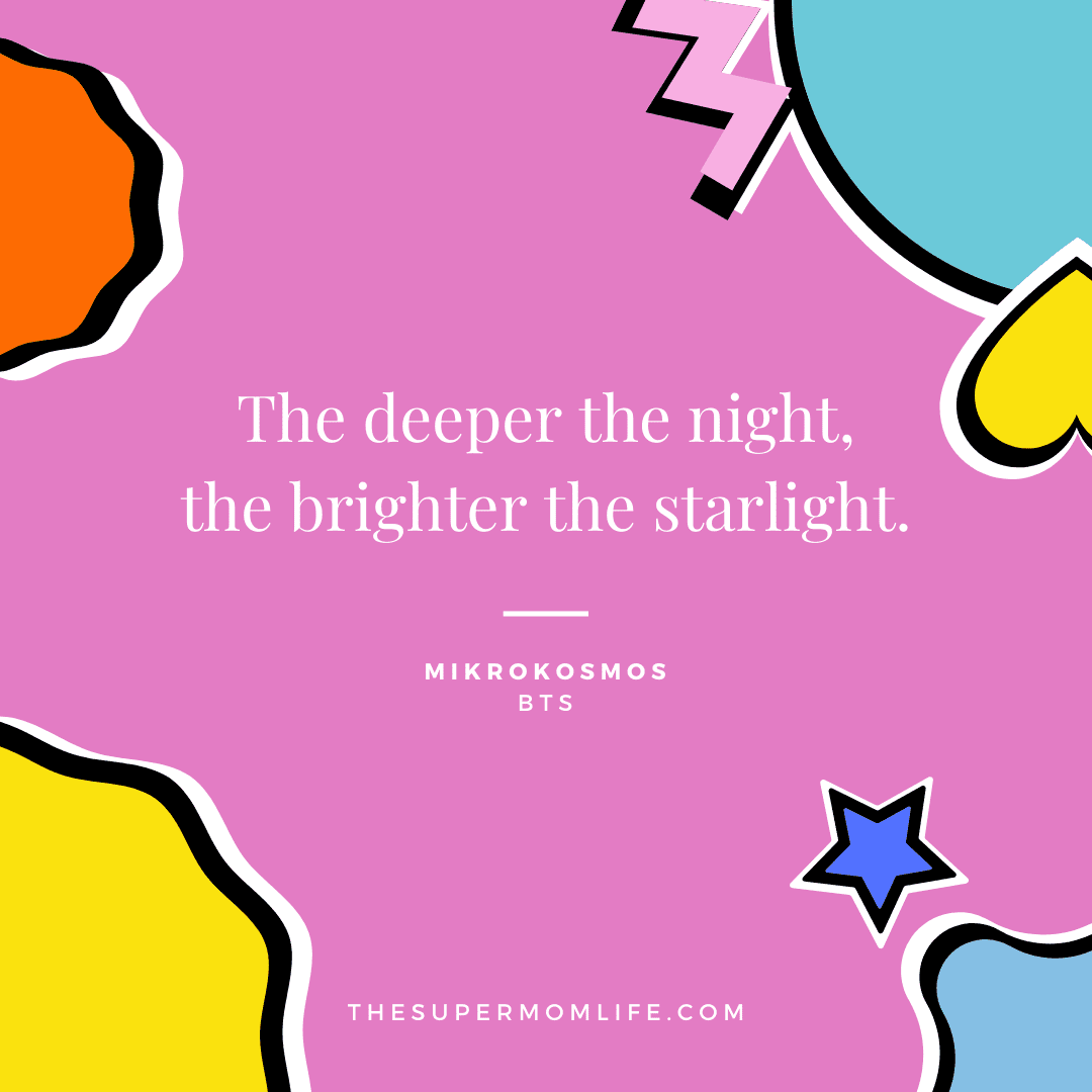The deeper the night, the brighter the starlight.