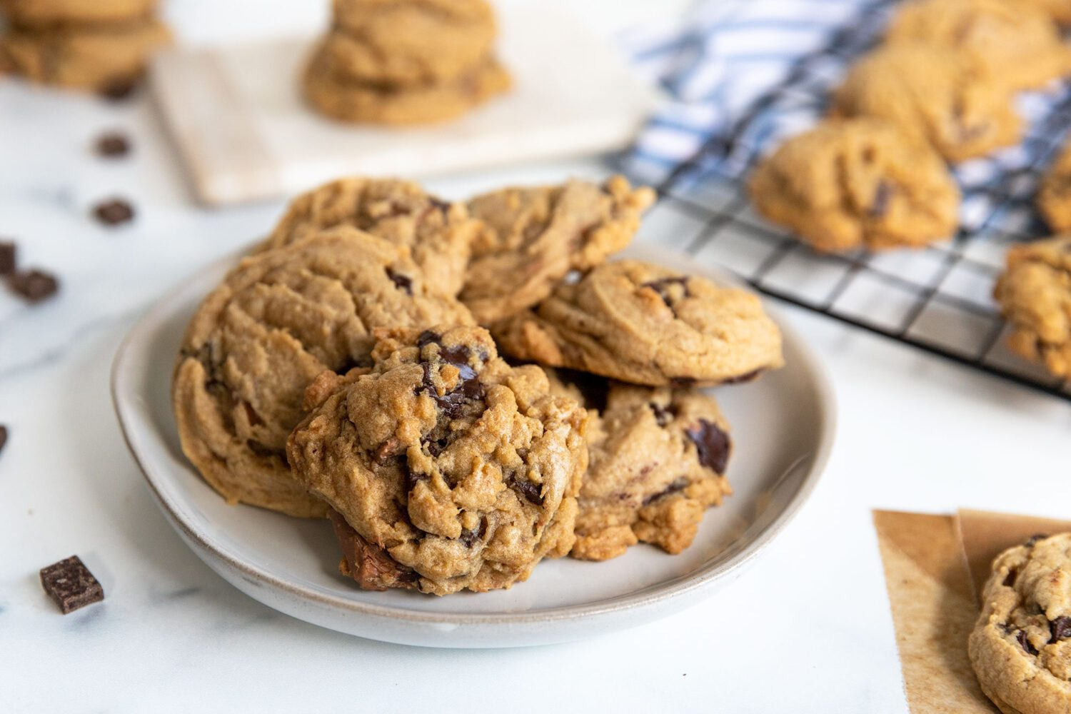 plate of cookies on a counter
