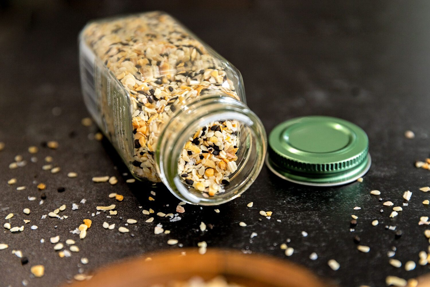 spice jar tipped over