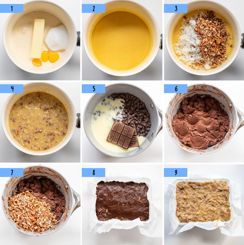 steps to make german chocolate cake fudge