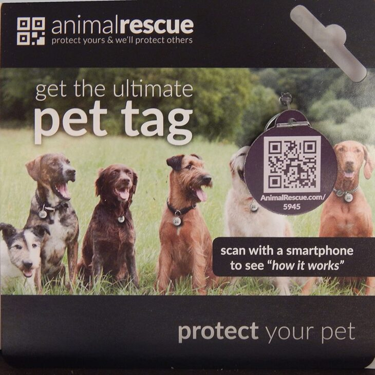 Q-Tag QR Code Pet ID Tag for Dogs