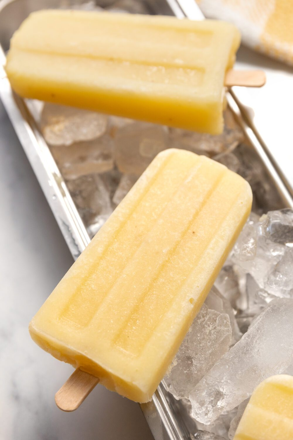 close up of a homemade popsicle