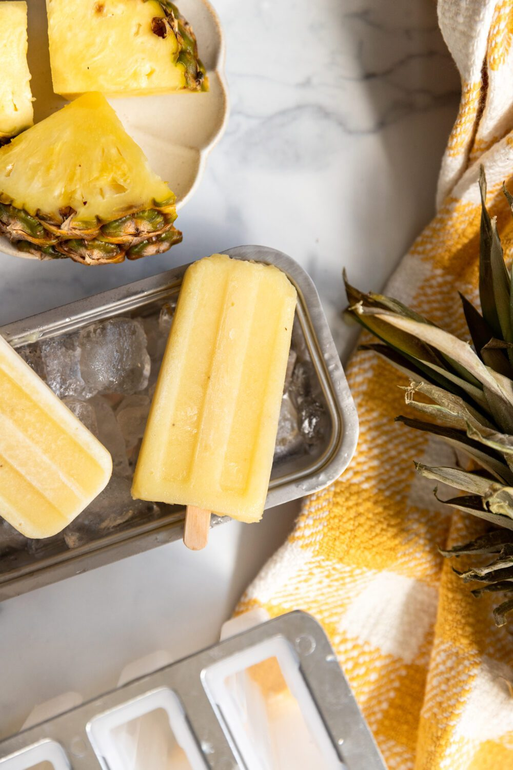 dole whip popsicles with fresh pineapple