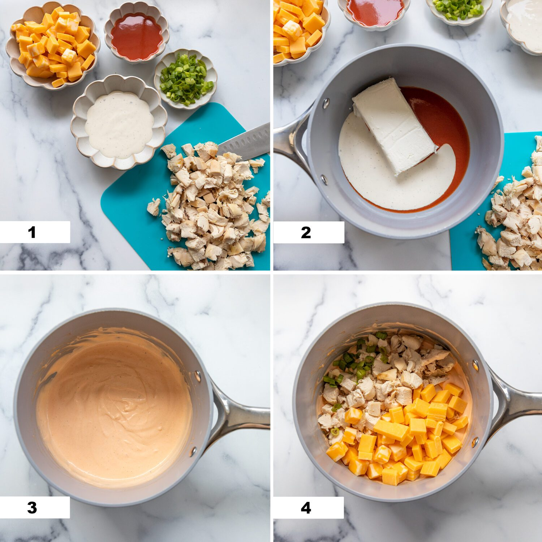 steps to make buffalo chicken dip