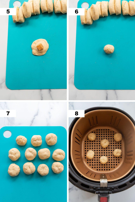 steps to make air fryer caramel cream puffs