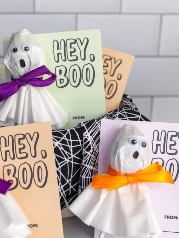 Ghost Lollipop and Hey, Boo Free Printable