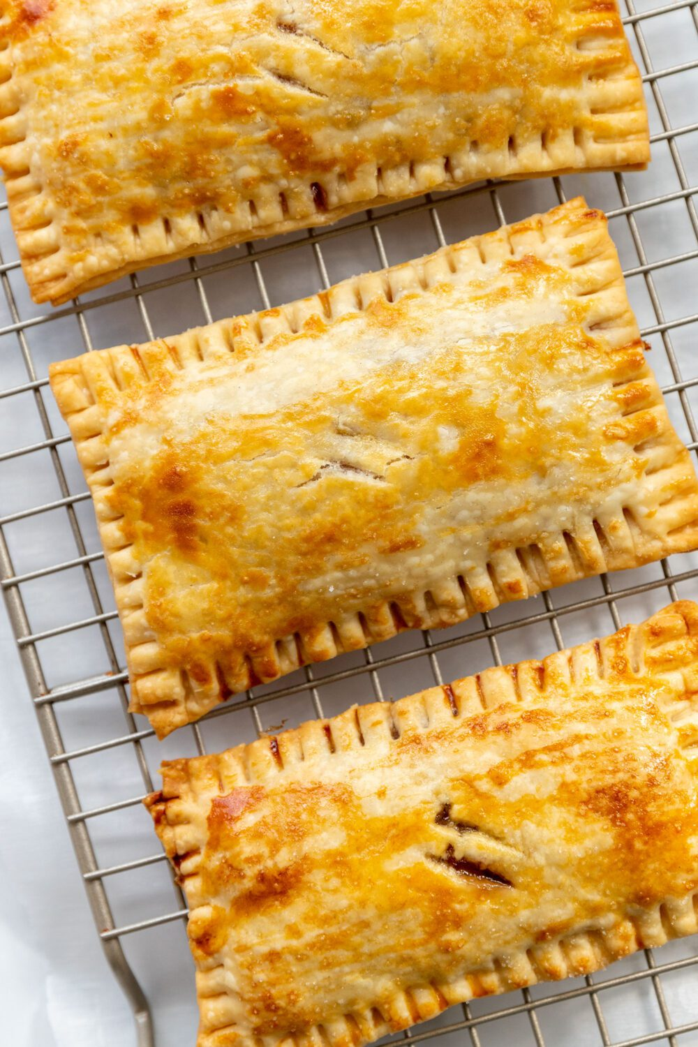pie crust on a cooling rack