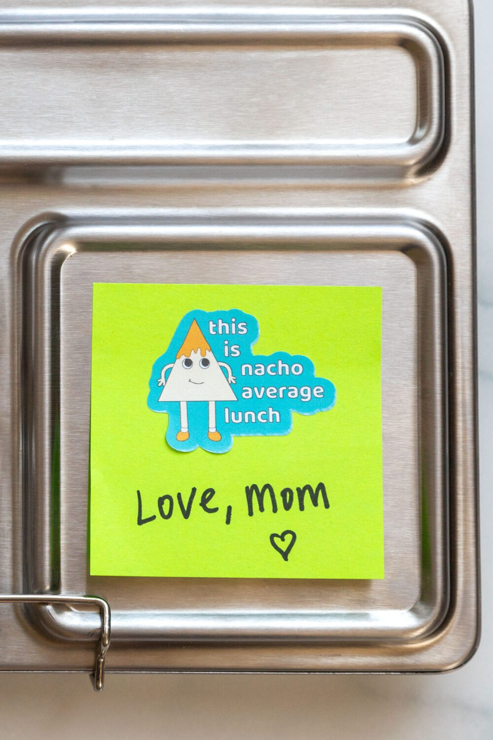 lunchbox note from mom with a sticker