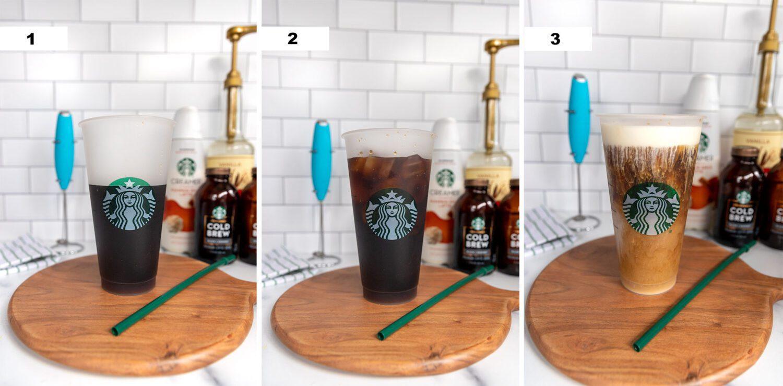 steps to make a starbucks pumpkin cream cold brew copycat at home