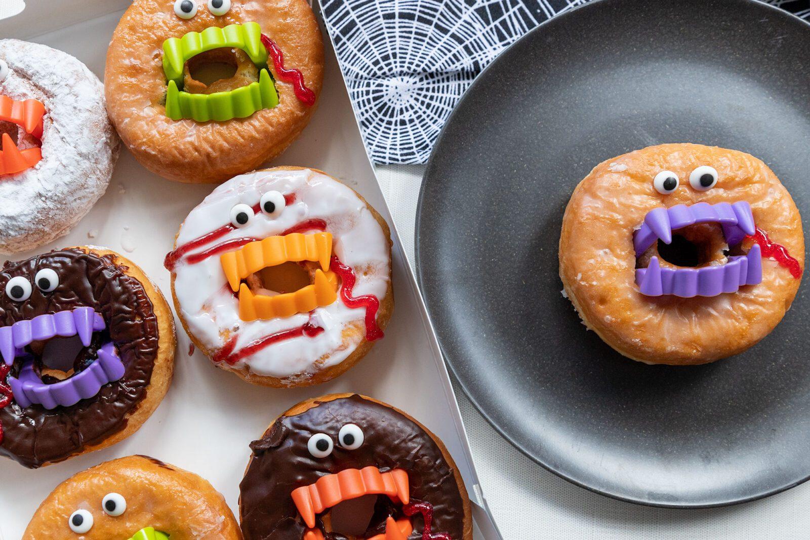 donut vampires perfect for Halloween